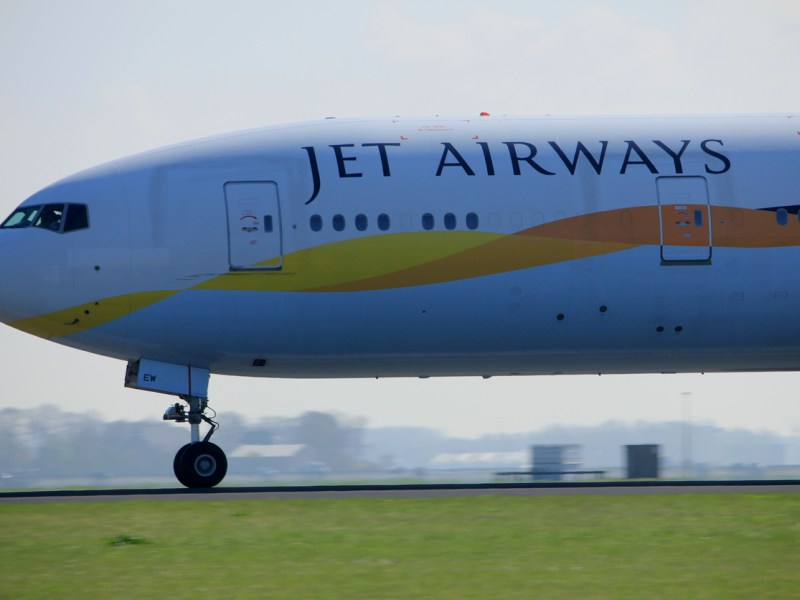 A Jet Airways plane readies for takeoff. Photo: iStock