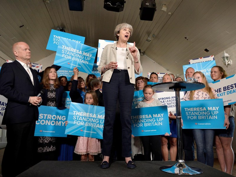Britain's Prime Minister Theresa May speaks at an election campaign event in West Yorkshire, Britain, June 3, 2017. Photo: Reuters