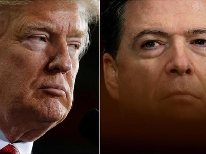 US President Donald Trump and former FBI Director James Comey: Did Trump fire Comey because he showed insufficient zeal in uncovering the pattern of press leaks. Photo: Reuters file