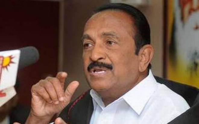 Tamil Nadu politician Vaiko. Photo: The Hindu