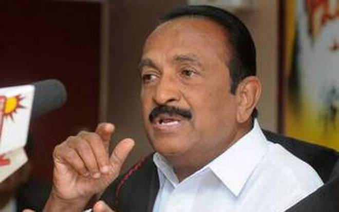 Tamil Nadu politician Vaiko. Photo: The Hindu