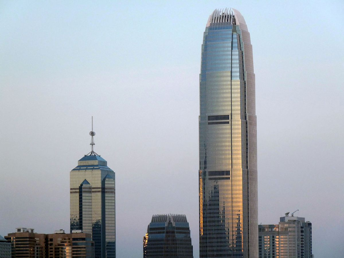 The International Finance Centre Two (right) is the second tallest building in Hong Kong. Photo: Wikimedia Commons