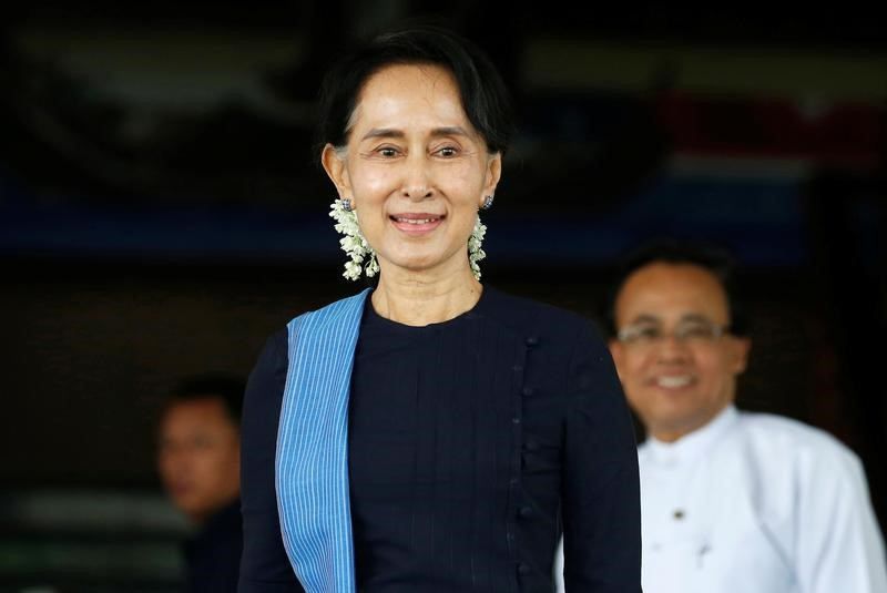 De facto Myanmar ruler Aung San Suu Kai's indifference to press freedom has attracted intense criticism. Photo: Soe Zeya Tun/Reuters