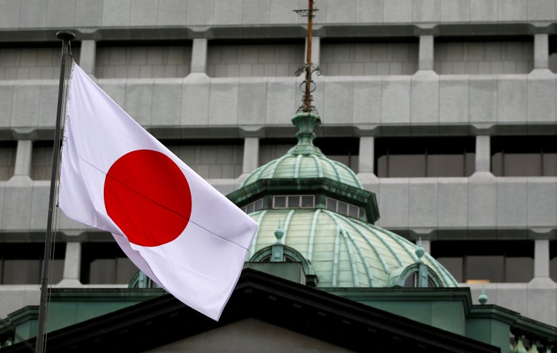 Japan's flag flutters atop the Bank of Japan building in Tokyo, Japan, September 21, 2016.  Reuters/Toru Hanai