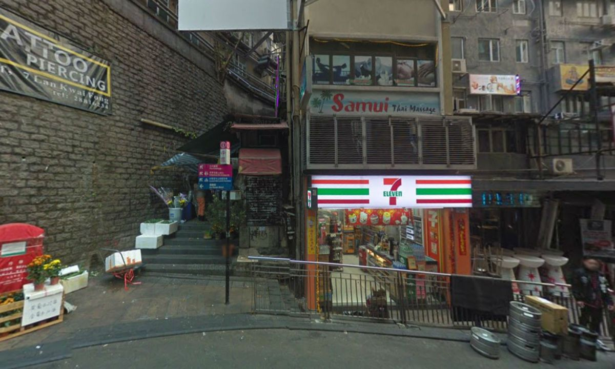Lan Kwai Fong in Central. Photo: Google Maps