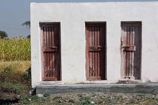 The Indian government is encouraging the construction of village toilets to improve village hygiene and safety. Photo: Flickr Commons