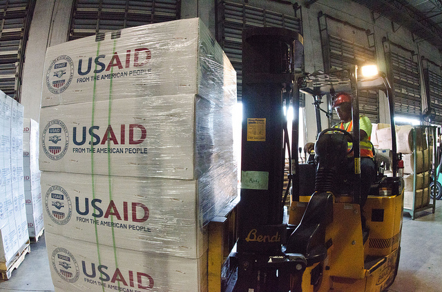 US aid cargo. Photo: Flickr Commons