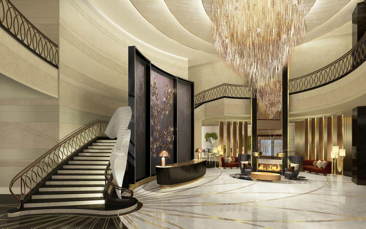 The Ritz-Carlton Almaty's lobby. Photo: Courtesy of Ritz-Carlton
