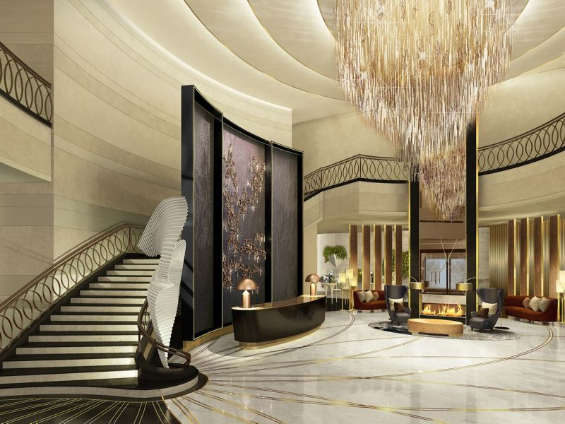 The Ritz-Carlton Almaty's lobby. Photo: Courtesy of Ritz-Carlton