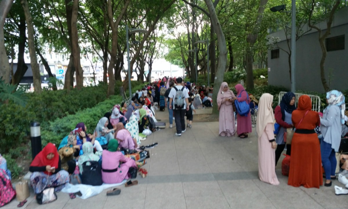 Indonesian domestic workers in Hong Kong. Photo: Asia Times