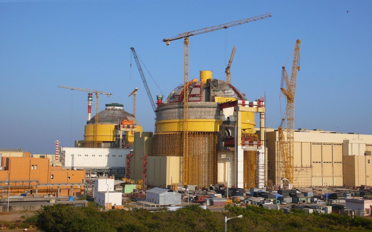 Construction of the Kundankulam nuclear power plant in the Tirunelveli district of the southern Indian state of Tamil Nadu. Photo: International Atomic Energy Agency