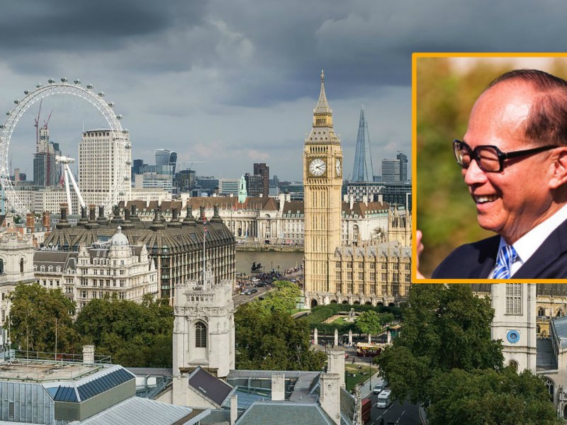 In 1989, Li Ka-shing (inset) showed interest in  becoming a British citizen. Main photo: Wikimedia Commons