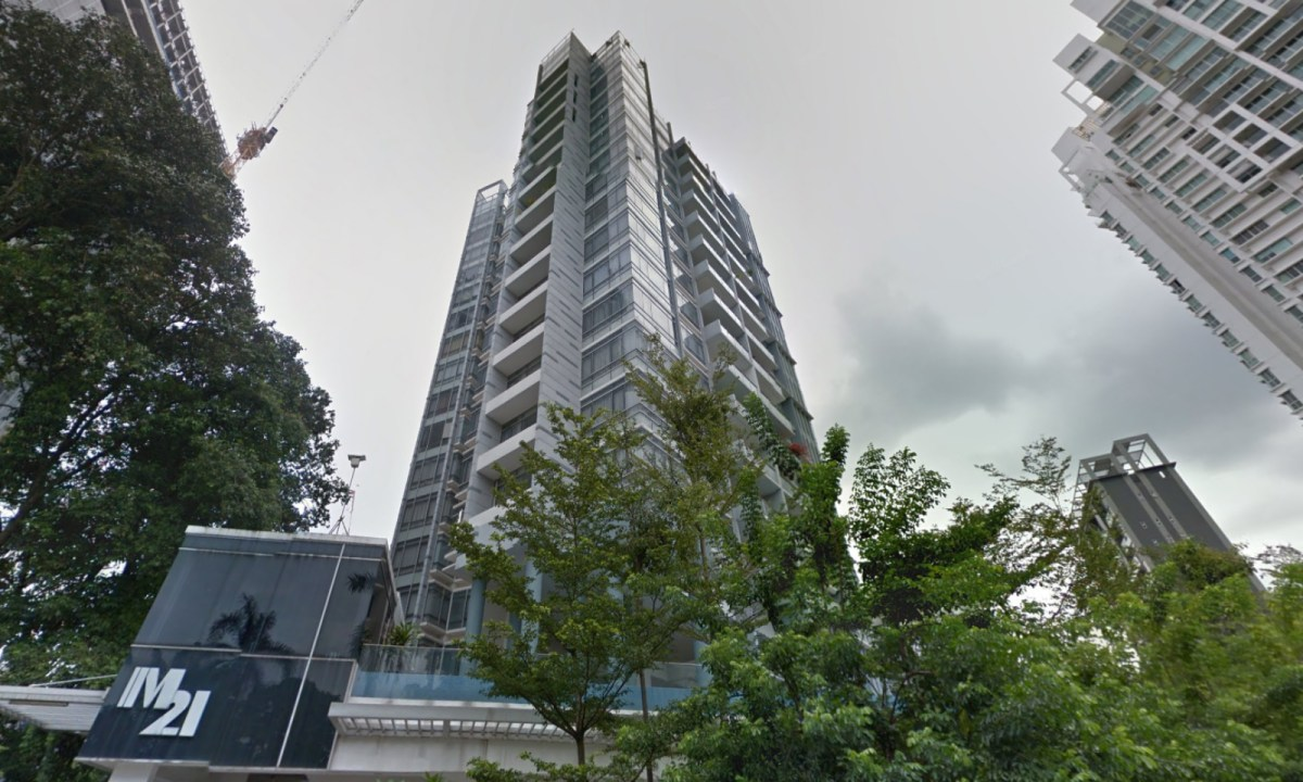 M21 residential building on Mandalay Road, Singapore. Photo: Google Maps