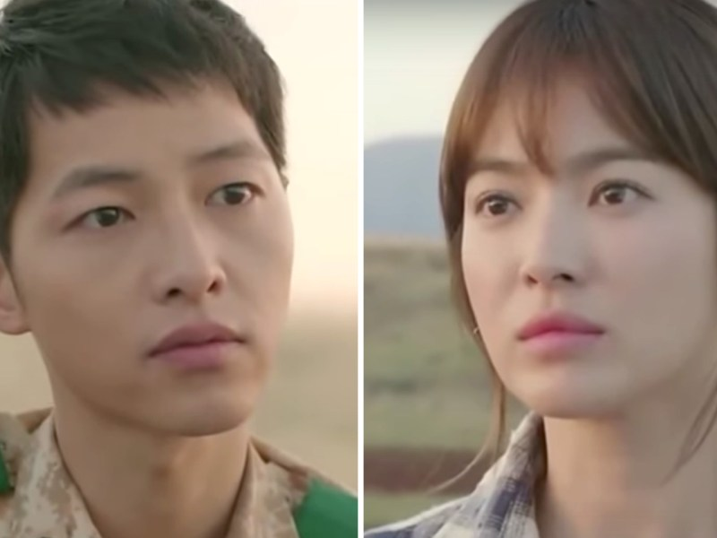 Song Joong Ki (left) and Song Hye-kyo (right) star in the highly popular 'Descendants of the Sun' TV series. Photo: Youtube.