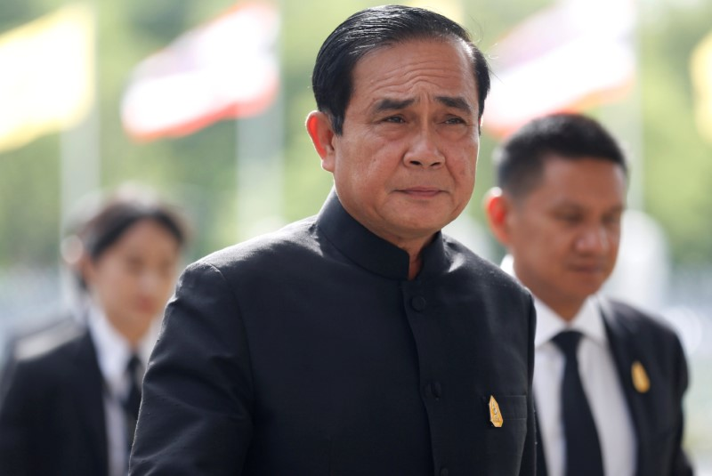 FILE PHOTO: Thailand's Prime Minister Prayuth Chan-ocha arrives to attend a weekly cabinet meeting at Government House in Bangkok, Thailand June 13, 2017.  Picture taken June 13, 2017. REUTERS/Chaiwat Subprasom