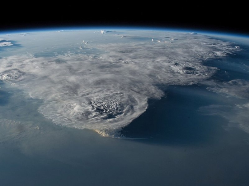 This photo from space shows thunderstorms over the South China Sea. The marine environment in the vital seaway is quickly degrading, making it urgent for ASEAN member countries and China to agree on a cooperative effort to preserve the sea's ecosystem. Photo: NASA/Wikipedia Commons.
