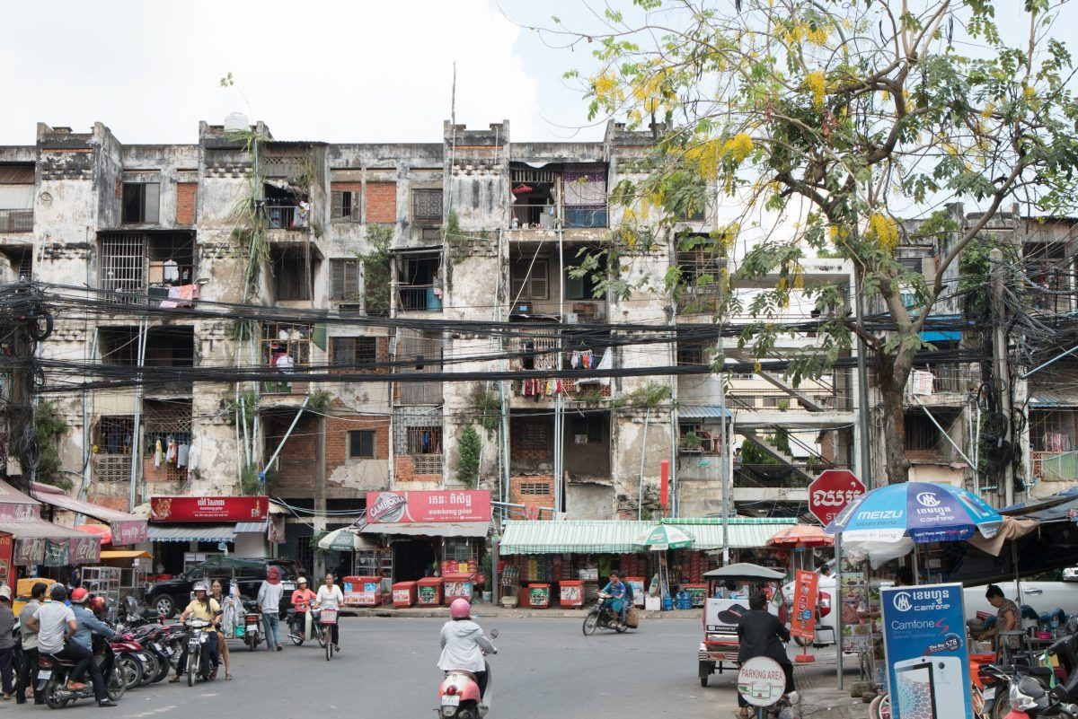 The White Building in Phnom Penh, labeled a slum by the government, is being demolished. Photo: Lim Sokchanlina