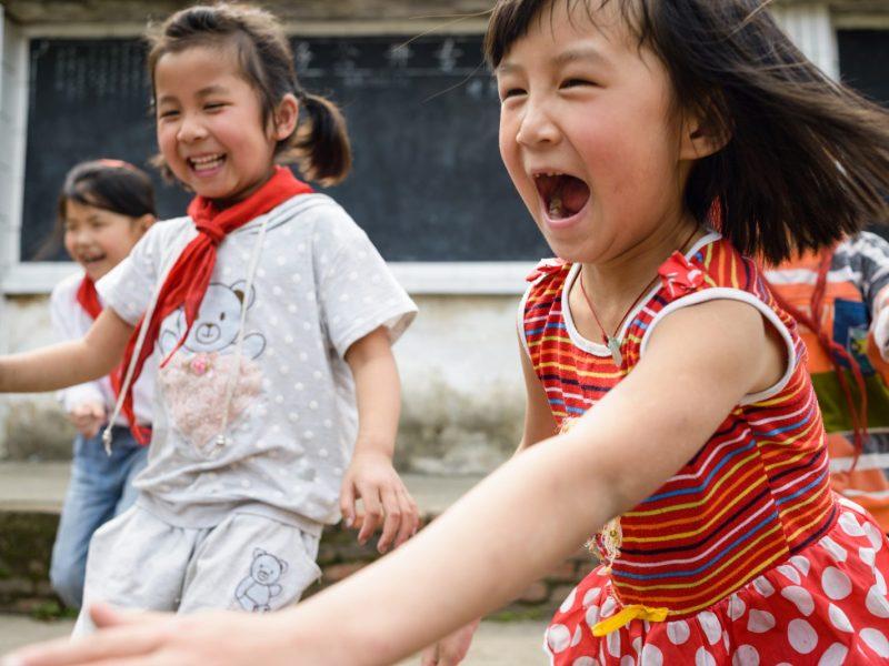 Chinese schoolchildren play in the schoolyard. Photo: iStock