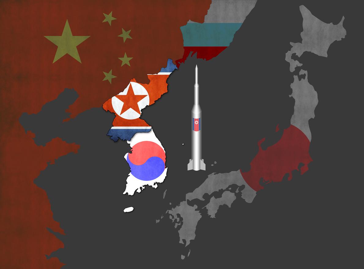 Map of Korean Peninsula. Image: iStock
