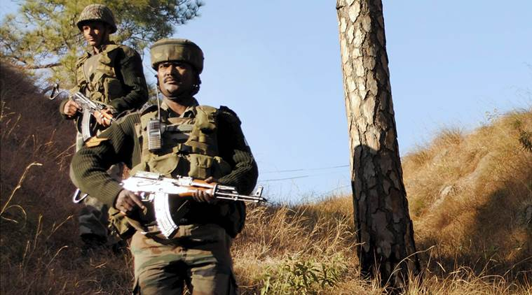 Soldiers near the Line of Control in Balakot sector of Poonch in Jammu. Photo: PTI