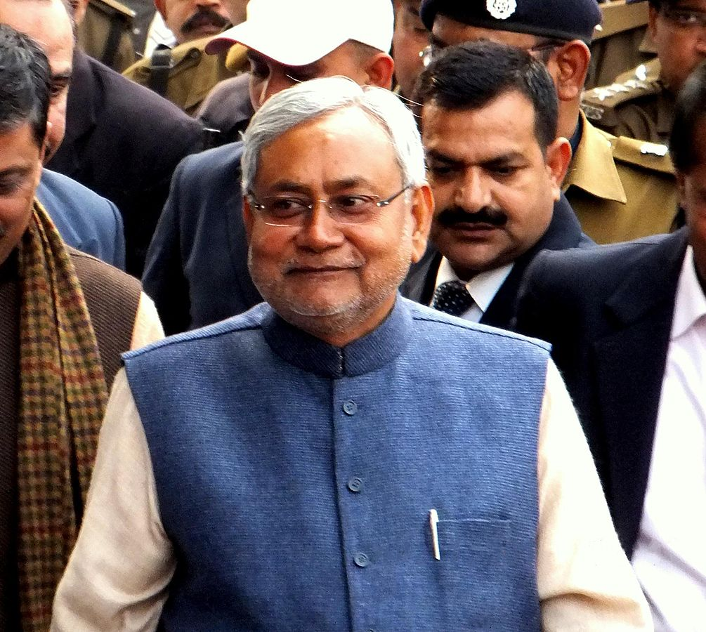 Bihar's Chief Minister Nitish Kumar is an isolated man in his state. Photo: Wikimedia Commons