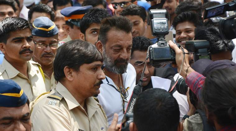 Actor Sanjay Dutt was jailed for his role in the 1993 Mumbai bombings, but was released eight months early. Photo: The Indian Express