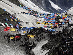 Seven Amarnath pilgrims were killed and 14 injured in a terrorist attack in south Kashmir's Anantnag district on Monday. Photo: Economic Times