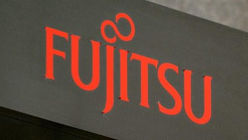 The logo of Japan's Fujitsu at its head office in Tokyo. Photo: AFP/Kazuhiro Nogi