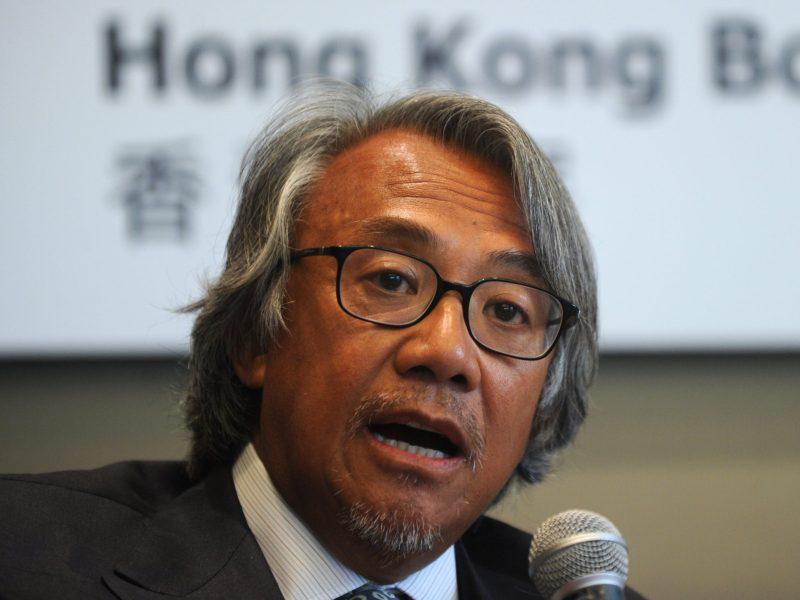 Sir David Tang speaks at a press conference in Hong Kong on July 23, 2010. Photo: AFP