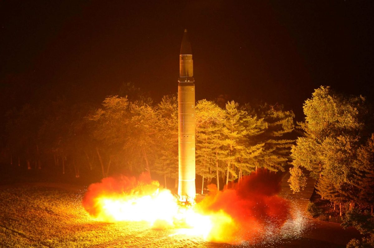 North Korea's Hwasong-14 ICBM. Photo: KCNA via Reuters