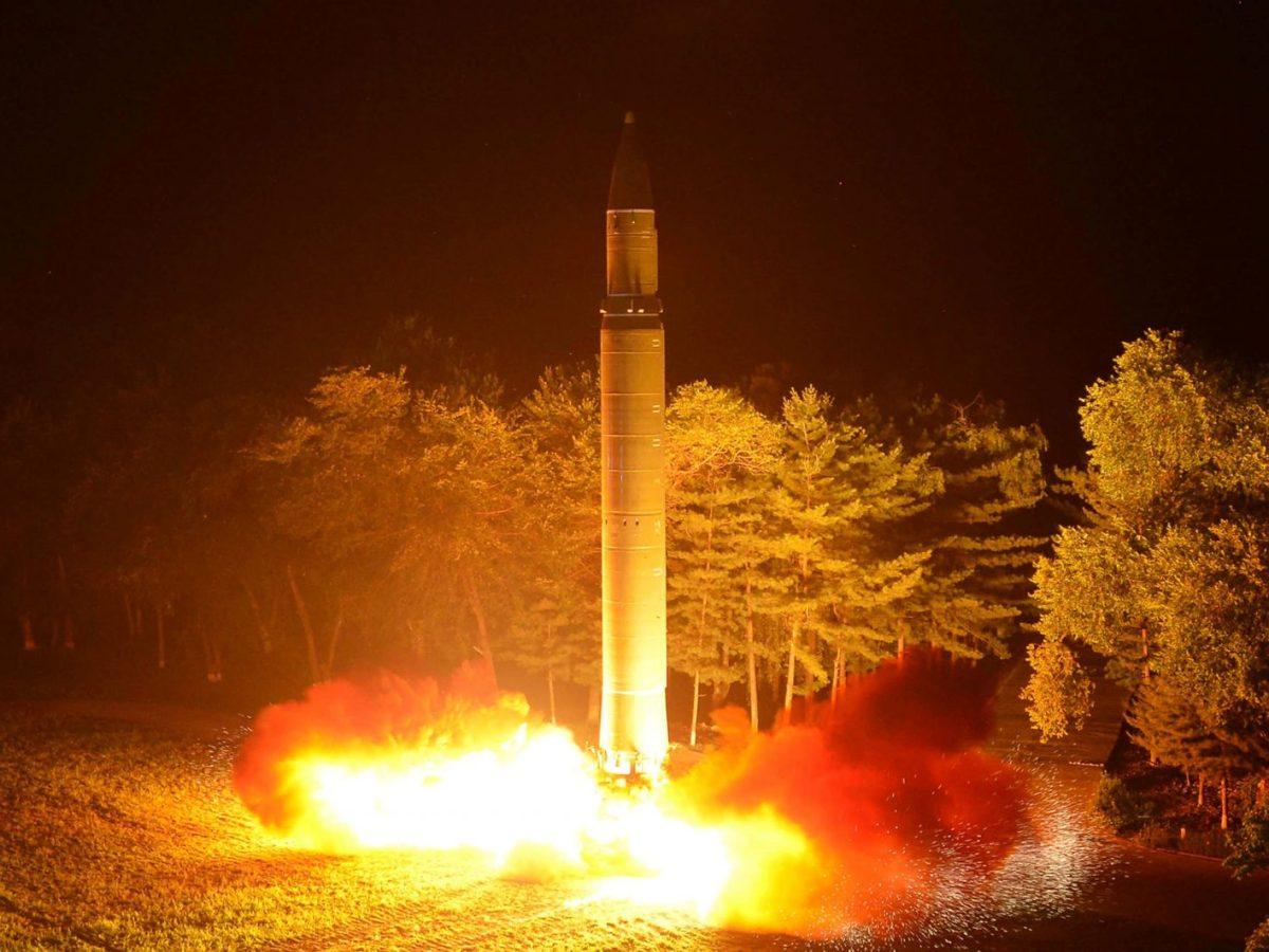 North Korea's Hwasong-14 ICBM. Photo: KCNA via Reuters