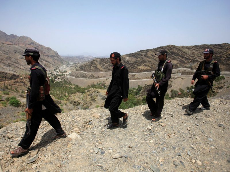 Members of Pakistan's Frontier Corps patrolling border. Photo: Reuters/Fayaz Aziz