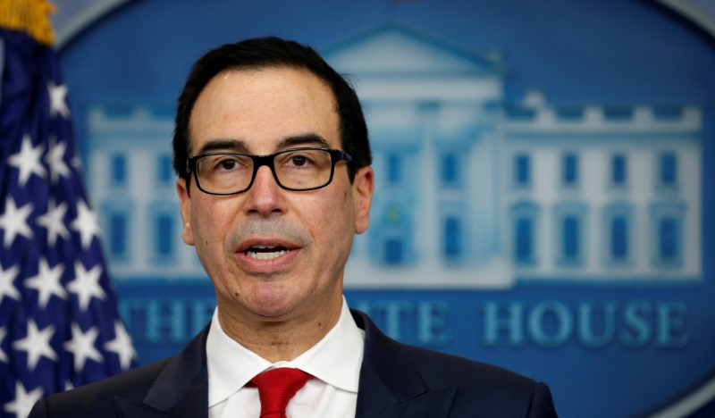 US Treasury Secretary Steve Mnuchin. Photo: Reuters/Kevin Lamarque