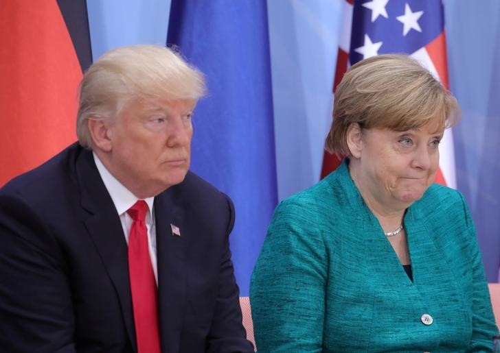 The Trump administration's murmerings that Germany has manipulated the euro are looking even more ridiculous now. Photo: Reuters/Michael Kappeler
