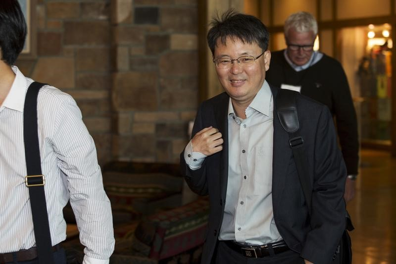Yoon Myun-shik attends an Economic Policy Symposium in Jackson Hole, Wyoming, on August 29, 2015. Photo: Reuters/Jonathan Crosby