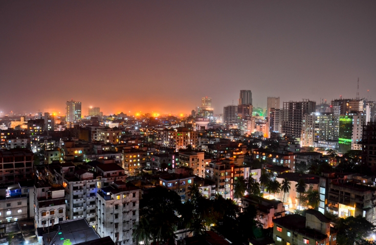Night view of Dhaka, Bangladesh. Photo: public domain