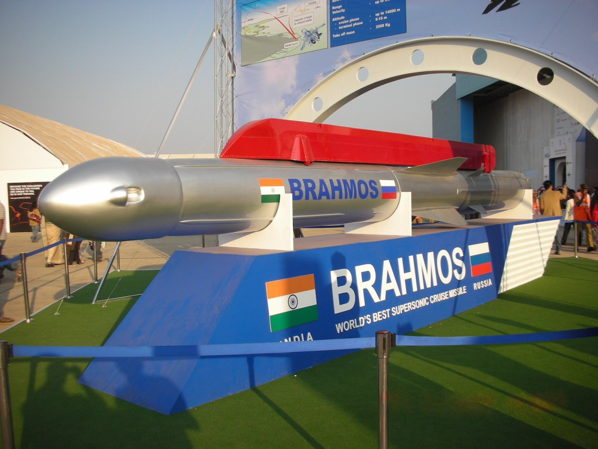 India's BrahMos missile on public display in a file photo. Photo: Wikimedia Commons/Anuraj
