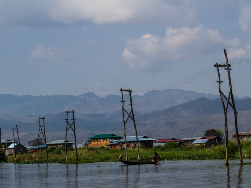 Wooden poles supply electricity in the Inle Lake region of Myanmar's Shan state. Photo: iStock