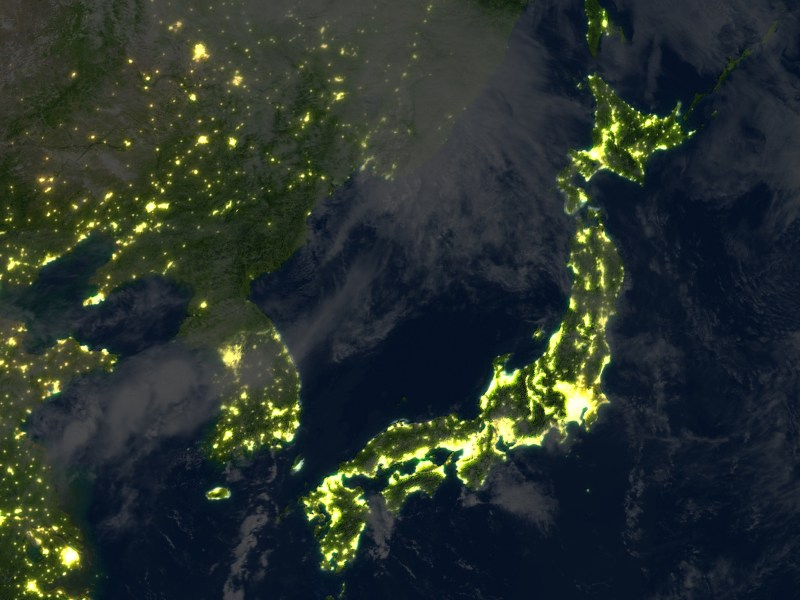 North Korea lies in darkness, in more ways than one. Photo: iStock