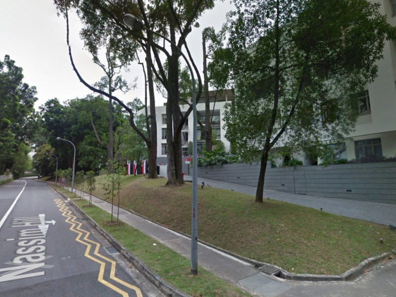 Nassim Hill in Singapore. Photo: Google Maps