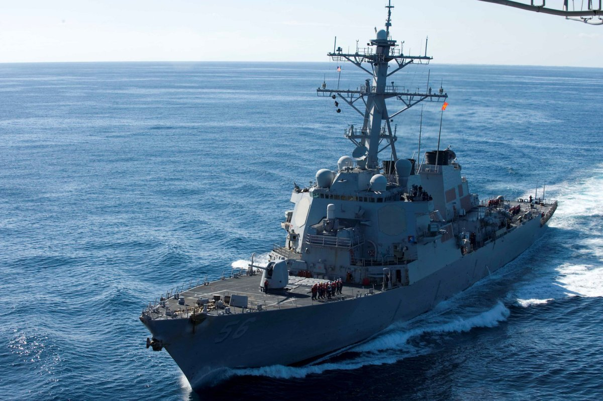 The guided-missile destroyer USS John S McCain, shown here in a file photo, was recently involved in a verbal confrontation with China in the Spratly Islands. Photo: Reuters/US Navy/Mass Communication Specialist Seaman Cheng S Yang/Handout