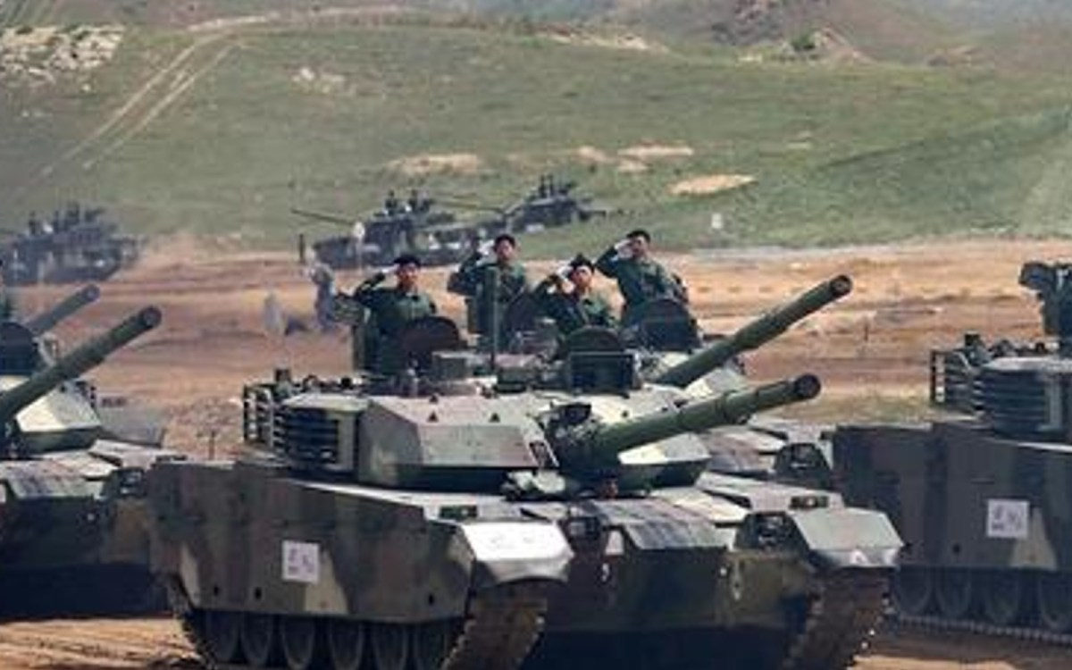 Chinese VT-4 main battle tanks.