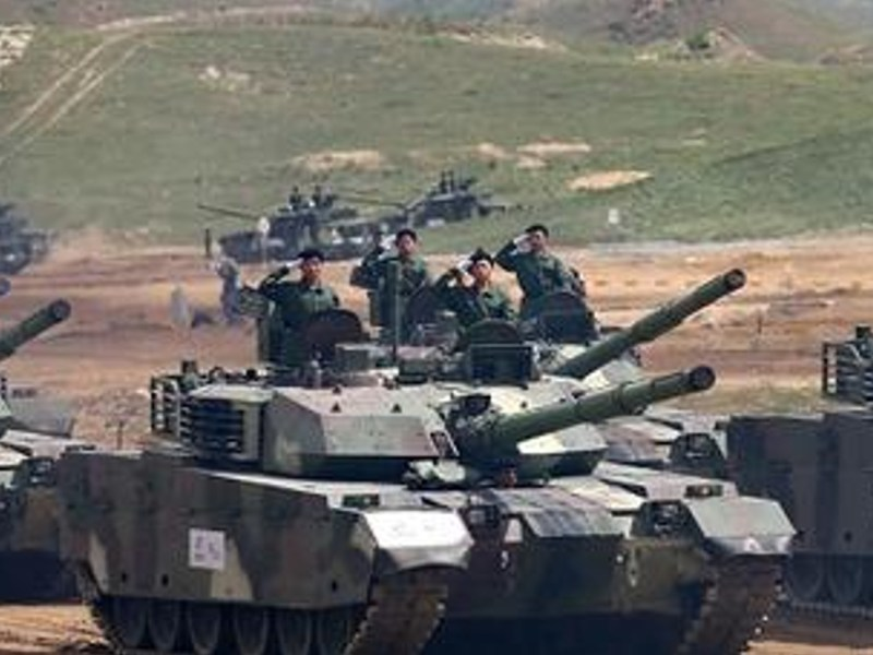 Chinese VT-4 main battle tanks.