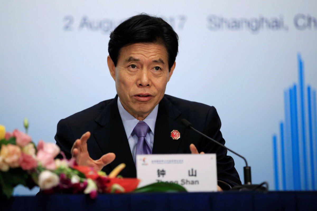 Chinese Commerce Minister Zhong Shan. Photo: Reuters/Aly Song