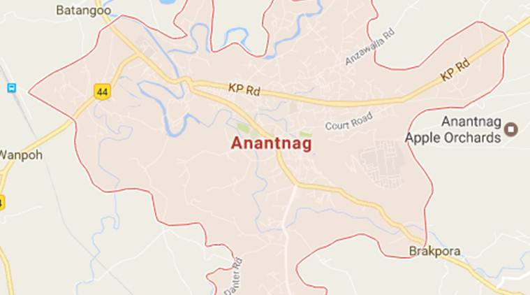 Jammu and Kashmir: A militant and a civilian were killed  in a clash in Anantnag district. Google Maps