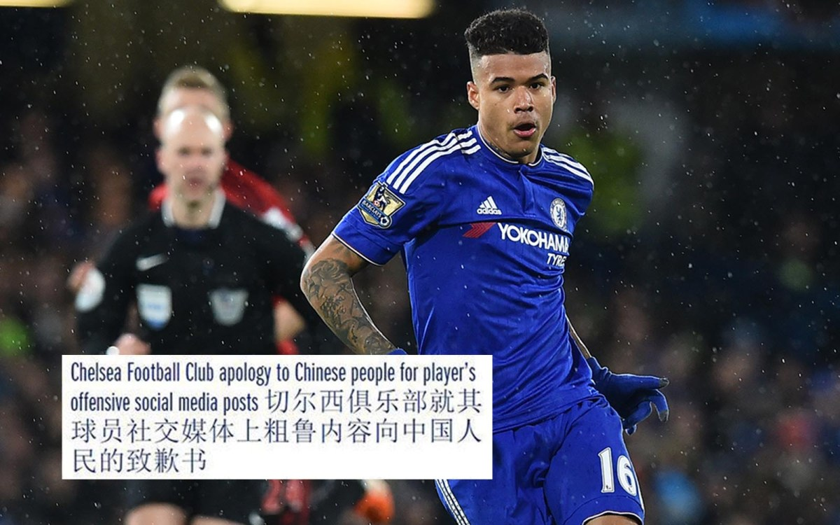 Chelsea's Brazilian star Kenedy was sent home from China last month after causing a social media storm because of comments he posted with a photo of a sleeping security guard. Photo: AFP/ Ben Stansall