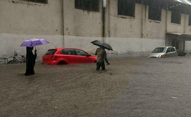 Floodwaters rise in Mumbai. Photo: NDTV