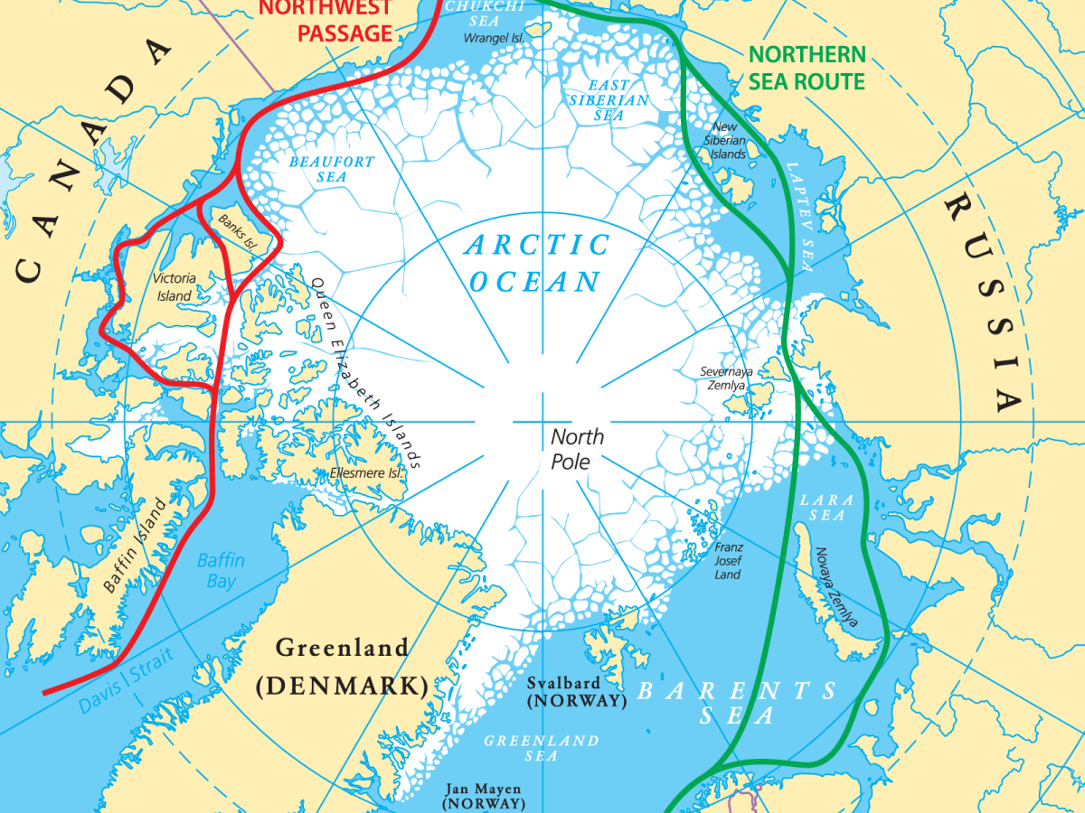 The circular route through the Arctic Circle. Illustration: iStock / Getty
