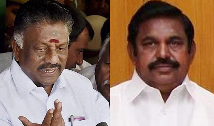 Rebel AIADMK leader O Panneerselvam and Tamil Nadu Chief Minister Edapaddi Palaniswami. Photo: India.com