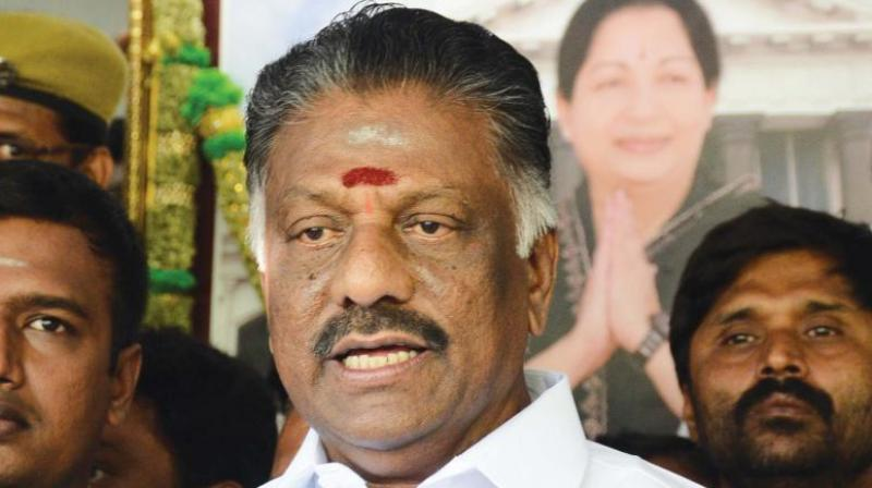 Former chief minister O Panneerselvam. Photo: Deccan Chronicle